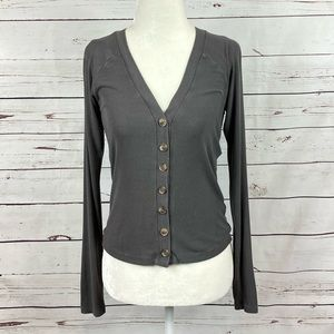 AMERICAN EAGLE Gray Soft & Sexy Ribbed Cardigan XS